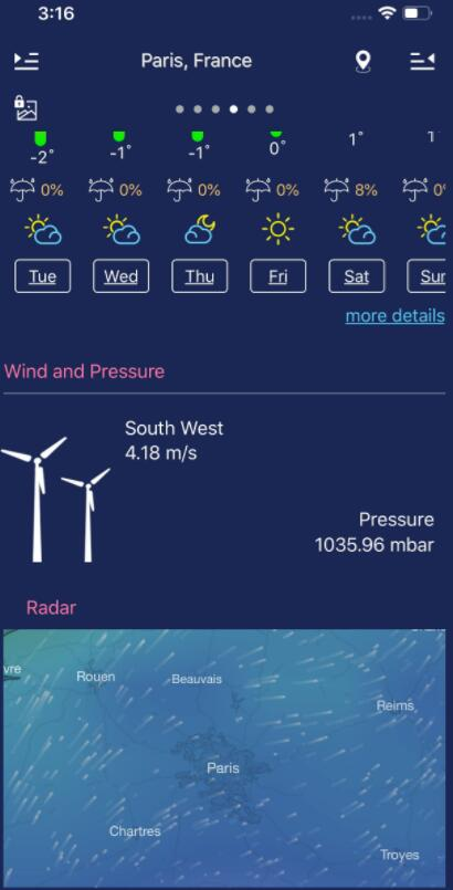 本地和世界天气预报 V1.0 苹果版