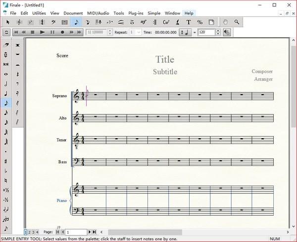 MakeMusic Finale(乐谱软件)V26.0.1.655 免费版