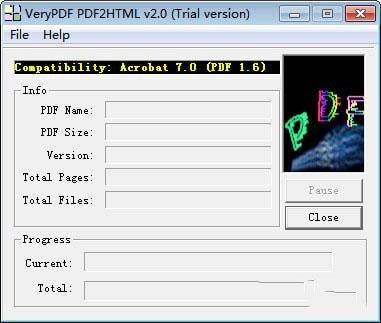 VeryPDF PDF2HTML(PDF到HTML转换器)V2.0 官方版