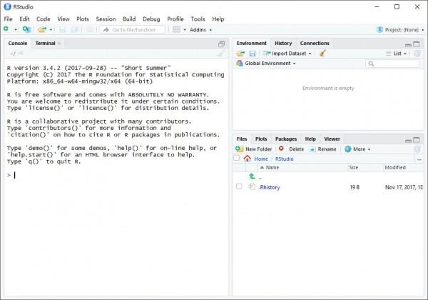 RStudio(R语言数据分析软件)V1.1.383 官方pc版