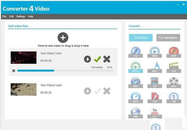 Converter4Video(视频格式转换器)V1.5 官方版