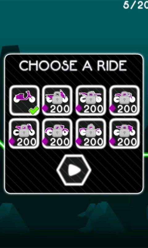 霓虹的摩托车