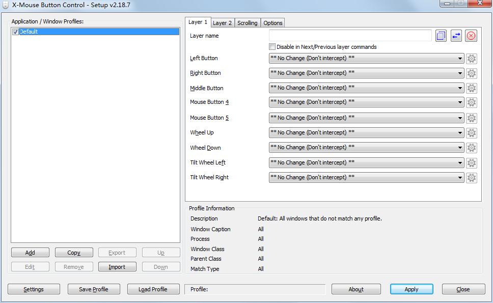 X-Mouse Button Control(鼠标侧键设置工具)V2.18.7 最新版