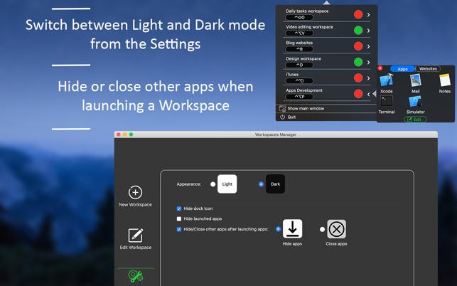 Workspace ManagerV1.0 Mac版