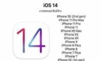 IOS14正式版适配机型/设备一览