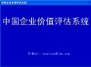 中国企业价值评估系统V3.03