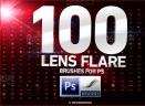 100款镜头光晕光效ps笔刷V1.0 免费版