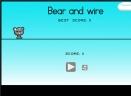 小熊走电线