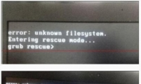 电脑开机黑屏提示error:unknown filesystem怎么办