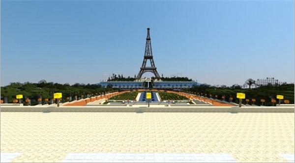 《我的世界》建筑存档埃菲尔铁塔