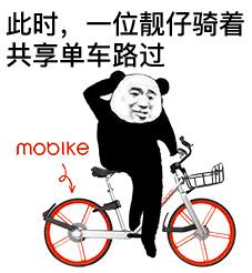 此时一位靓仔骑着共享单车路过表情包 完整版