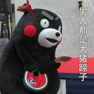 熊本熊女生生气九连表情包