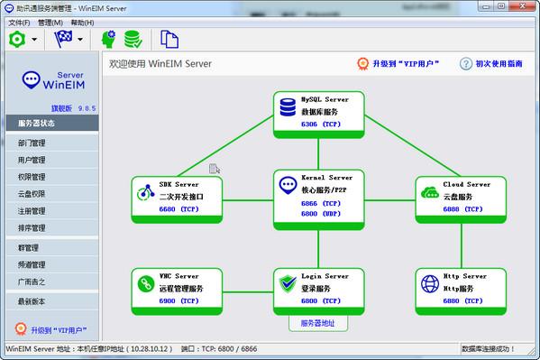 助讯通(wineim)是一款企业即时通讯软件,c/s结构,分服务端,客户端