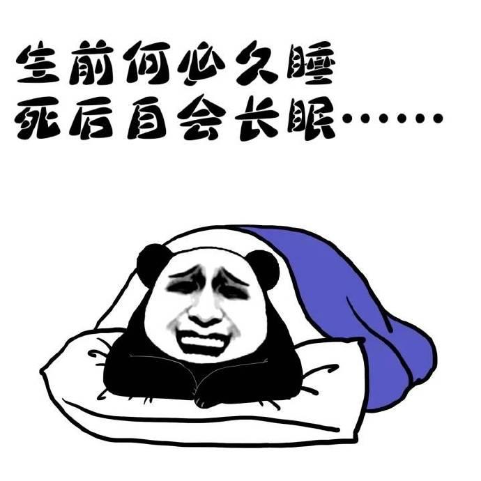 生前何必久睡死后自会长眠表情包电脑版
