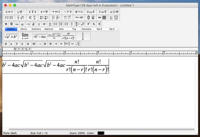 MathType 7 for Mac 破解版 7.4.1 含注册码