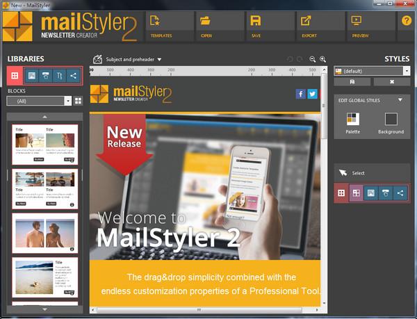MailStyler(邮件模板编辑工具) 2.5.0.1 破解版