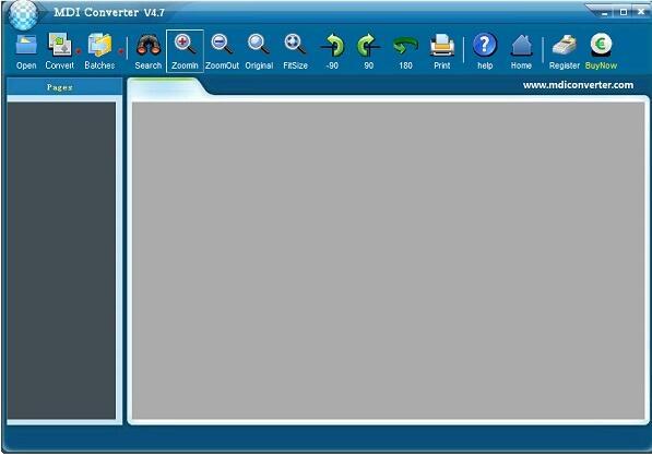 MDI文件格式转换器截图