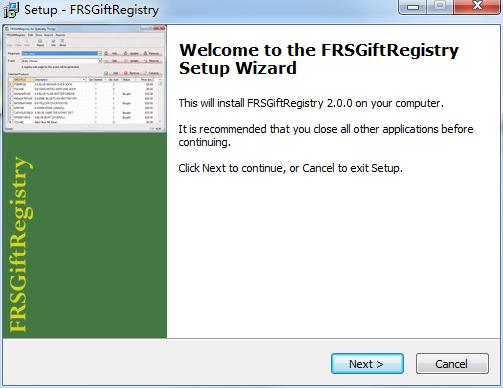 FRSGiftRegistry截图