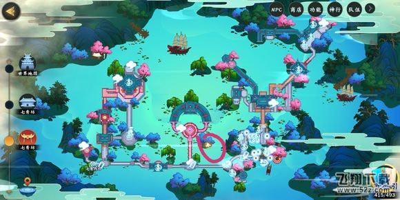 剑网3指尖江湖精致的绣球位置坐标一览_52z.com