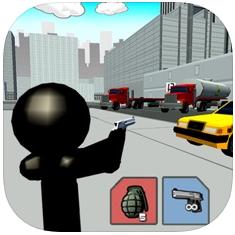 在三维城市火柴人射击游戏 V1.0 苹果版