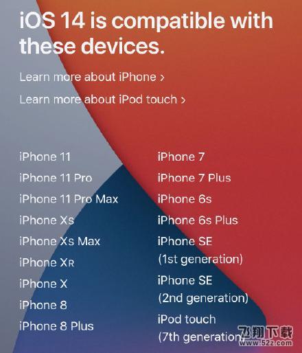iOS14支持哪些机型