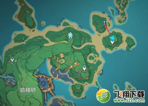 原神五颗雷樱树位置坐标一览