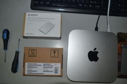 苹果2014款Mac mini更换固态硬盘图文教程