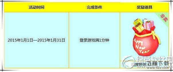 炫舞时代1月欢度新年活动 登录送新年非卖背饰1