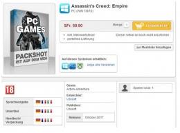 《刺客信条:帝国》上架销售 或于年内10月发售