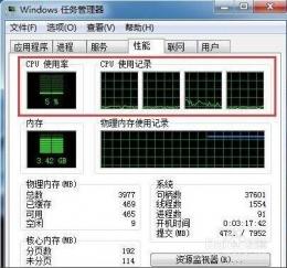 win7系统查看CPU使用率方法教程