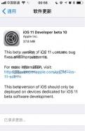苹果iOS11开发者预览版Beta10/公测版Beta9固件下载