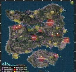 绝地求生大逃杀9月最新地图资源点 地势分布图一览