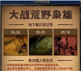 2018dnf大战荒野枭雄活动副本奖励一览