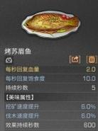 明日之后烤苏眉鱼烹饪配方介绍