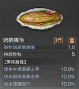 明日之后烤鹦嘴鱼烹饪配方介绍