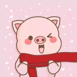 2019猪年卡通情侣头像两张一左一右 2019猪猪一对两张情侣头像