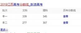 2019江苏高考录取分数线是多少?