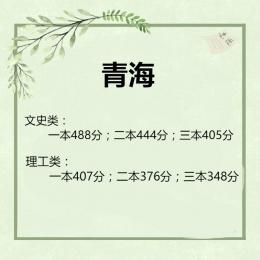 2019青海高考一本/二本分数线公布