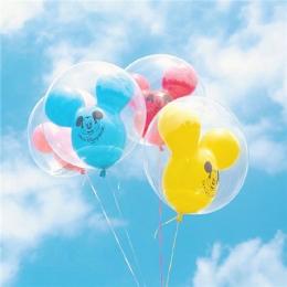 迪士尼城堡气球图片大全 迪士尼米老鼠气球图片高清唯美