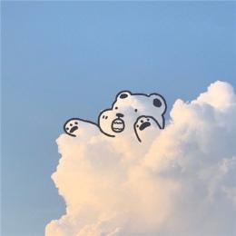 手绘卡通蓝天白云背景图片 白云像动物的图片大全