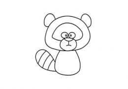 QQ画图红包浣熊画法教程