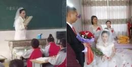 老师穿婚纱讲课是怎么回事 老师穿婚纱讲课是什么情况