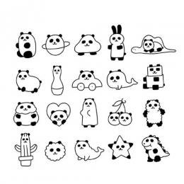 超可爱简笔画小动物图片 呆萌小动物简笔画大全