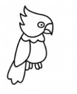 QQ画图红包鹦鹉画法教程