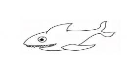 QQ画图红包鲨鱼画法教程