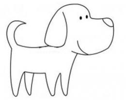 QQ画图红包狗画法教程