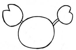 QQ画图红包螃蟹画法教程