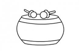 QQ画图红包鼓画法教程
