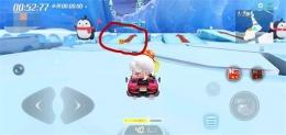 跑跑卡丁车手游带箭头的冰筑跳台附近宝藏任务攻略