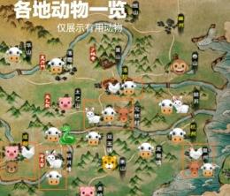烟雨江湖动物位置坐标一览